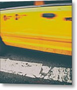 Taxi Taxi Metal Print by Karol Livote