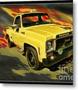 Taxicab Repair 1974 Gmc Metal Print