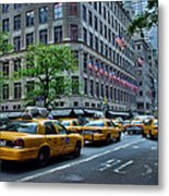 Taxicabs Of New York City Metal Print