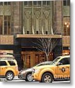 Taxis In The City Metal Print