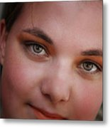 Taylor And Her Eyes Metal Print