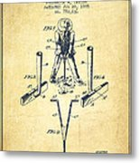 Taylor Golf Club Patent Drawing From 1905 - Vintage Metal Print