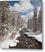 Taylor River Winter Metal Print