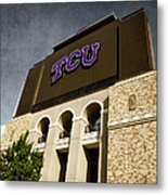Tcu Stadium Entrance Metal Print