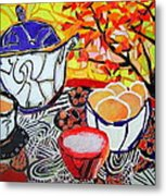 Tea And Eggs  Metal Print by Diane Fine