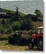 Tea Break Tractor Metal Print