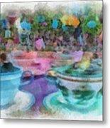 Tea Cup Ride Fantasyland Disneyland Pa 01 Metal Print