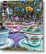 Tea Cup Ride Fantasyland Disneyland Metal Print by Thomas Woolworth