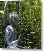 Tea Garden Buddha Metal Print