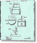 Tea Kettle Patent 1916 Metal Print