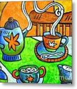 Tea Party Metal Print by Doreen Kirk