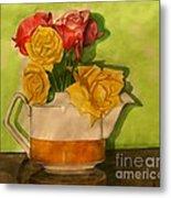 Tea Roses Metal Print
