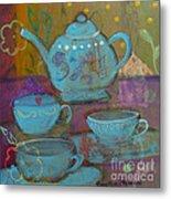 Tea Spot Metal Print