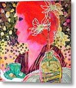 Teabag Metal Print by Diane Fine
