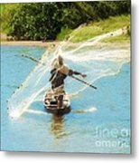 Teach A Man To Fish Metal Print