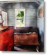 Teacher - One Room Schoolhouse With Hurricane Lamp Metal Print by Susan Savad