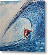 Teahupoo Wave Surfing Metal Print