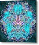 Teal Starfish Metal Print