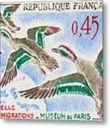 Teal Study Of Migration-museum Of Paris Metal Print