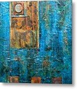 Teal Windows Metal Print by Debi Starr