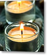 Tealights Metal Print