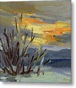 Teanaway Valley Winter Metal Print