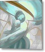 Teary Dreams Pastel Abstract Metal Print