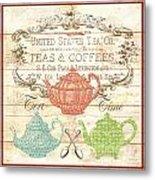 Teas And Coffees Sign Metal Print