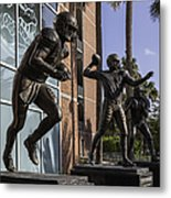 Tebow Spurrier And Wuerffel Uf Heisman Winners Metal Print