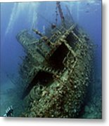Technical Divers On The Giannis D In The Red Sea  Egypt Metal Print