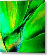 Technicolor Succulent Metal Print