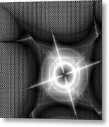 Techno Flash Metal Print
