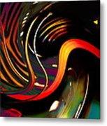 Techno  Neon Stripes Metal Print