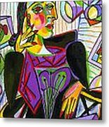 Technology And Picasso Metal Print