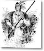Tecumseh, Shawnee Indian Leader Metal Print