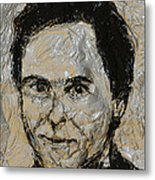 Ted Bundy In Black And White Metal Print