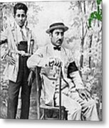 Ted Degrazia With  Uncle  Gregorio Circa 1920's-2013 Metal Print