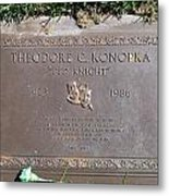Ted Knight Grave Metal Print