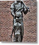 Ted Williams Statue - Boston Metal Print by Joann Vitali