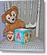 Teddy And Toy Box Metal Print