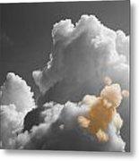 Teddy Bear Cloud Metal Print