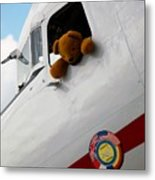 Teddy Bear Pilot Metal Print