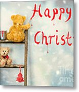 Teddy Bears At Christmas Metal Print