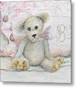 Teddy Friend Metal Print