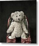 Teddy In Pumps Metal Print