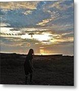 Teed Up Sunset Shot 2 12/5 Metal Print