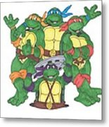Teenage Mutant Ninja Turtles  Metal Print by Yael Rosen