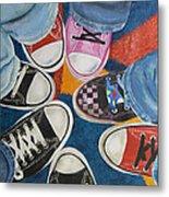 Teens In Converse Tennies Metal Print