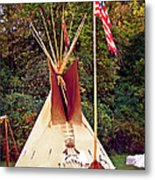 Teepee Metal Print by Marty Koch