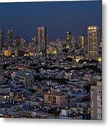 Tel Aviv At The Twilight Magic Hour Metal Print
